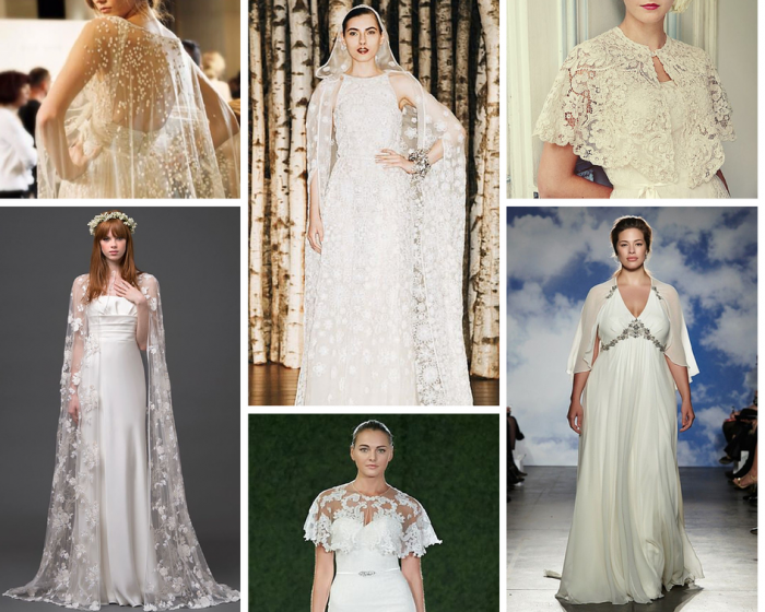 The Boutique Wedding Co. Bridal Gown Trends 2015- Capes