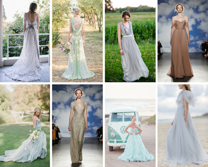The Boutique Wedding Co. Wedding Dress Trends 2015-Coloured Dresses