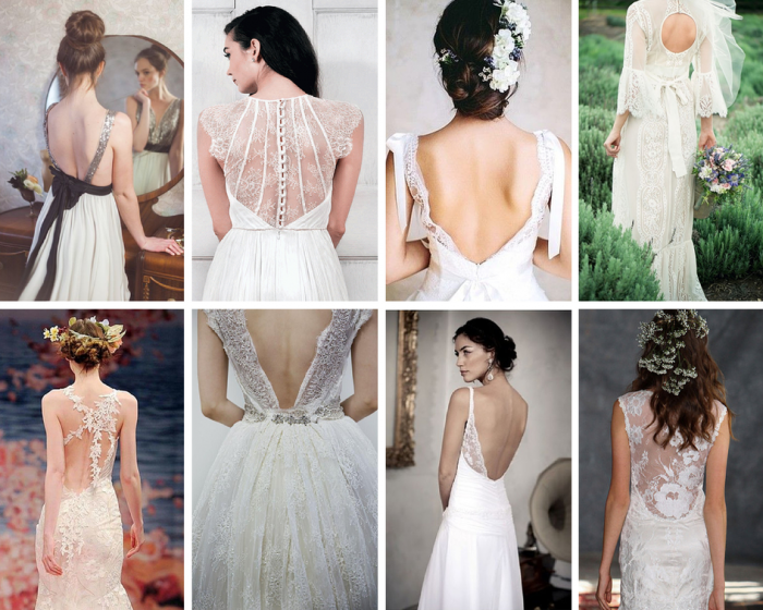 The Boutique Wedding Co. Wedding Dress Trends 2015-Plunging and Embellished Backs