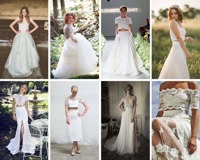 The Boutique Wedding Co. Bridal Gown Trends 2015- Separates and Crop Tops