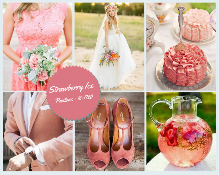 Strawberry Ice Wedding Colour Trends in Spain 2015